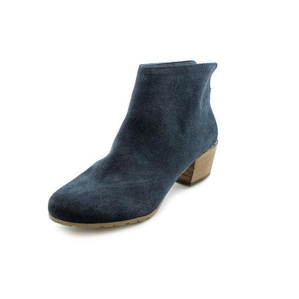 Kenneth Cole Reaction Pil-Age Women Round Toe Suede Blue Ankle Boot