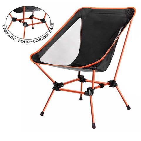Upgraded Lightweight Portable Camping Chair Outdoor Folding Backpacking Camp Lounge Chairs