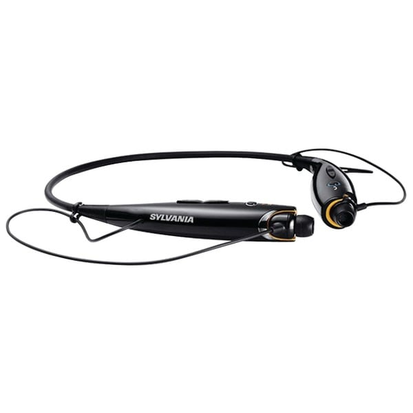 Sylvania Sbt129-Black Bluetooth(R) Sport Headphones With Microphone