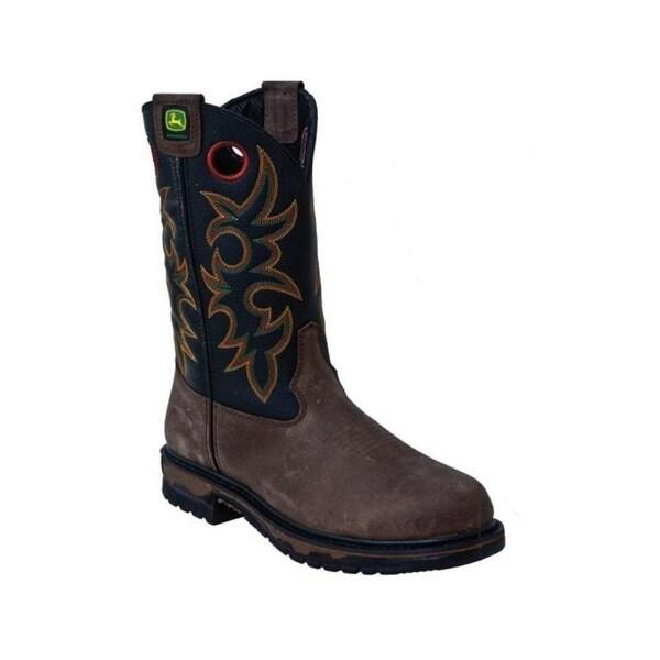John Deere Work Boots Mens Weather Resistant Storm Welt Black