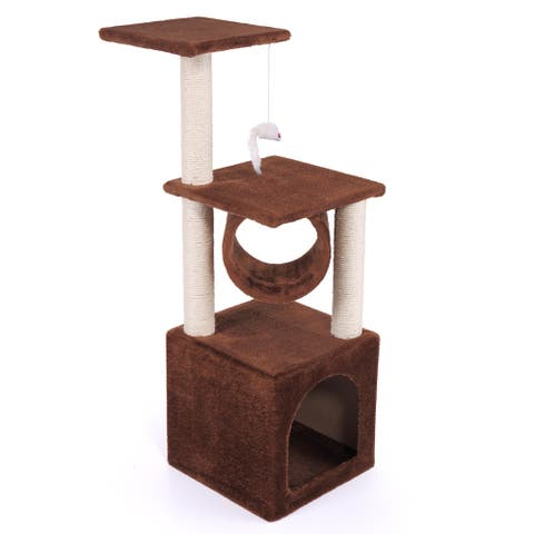 Cat Tree Condo Furniture House Tunnel Scratcher Pet Play Toy Deluxe