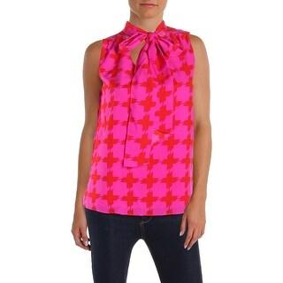 JB by Julie Brown Womens Emery Blouse Printed Work Wear