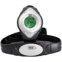 PYLE PRO PHRM38SL Heart Rate Monitor Watch with Minimum, Average & Maximum Heart Rate (Silver)