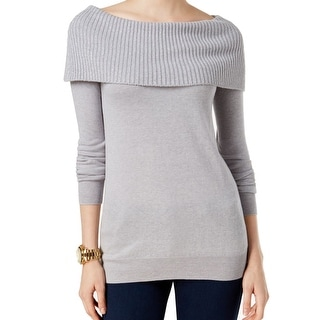 MICHAEL Michael Kors NEW Gray Womens Small S Off Shoulder Tunic Sweater