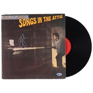 Billy Joel Signed Songs In The Attic Vinyl Record Album BAS