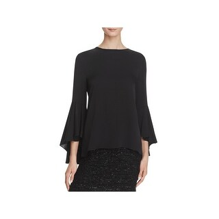 Milly Womens Blouse Solid Silk