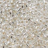 Miyuki Delica Seed Beads 15/0 Silver Lined Crystal DBS041 4 Grams