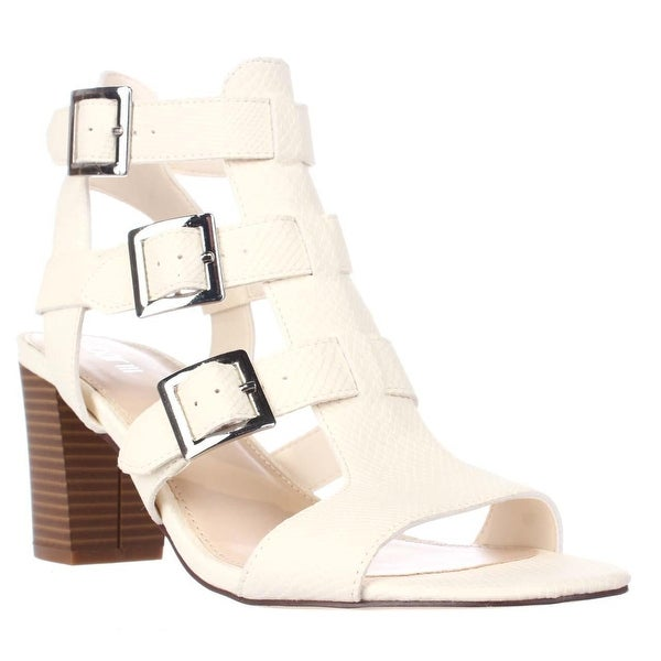 B35 Kara Strappy Buckle Dress Heels Sandals, Dew