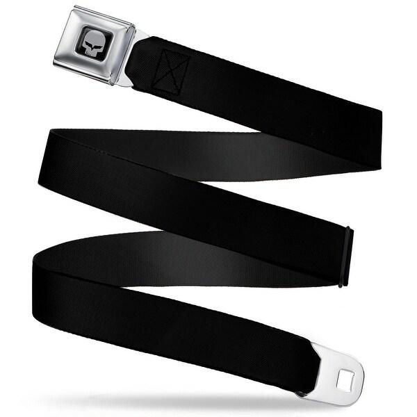 C6R Jake Skull Black Seatbelt Belt Fashion Belt