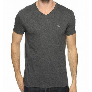 6510726c61c17 Shop Lacoste Gray Heather Mens Size US Large L FR 5 V-Neck Tee T-Shirt -  Free Shipping On Orders Over  45 - Overstock.com - 27094986