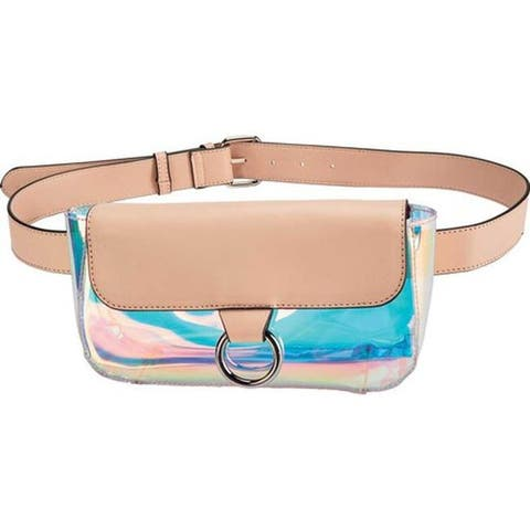 San Diego Hat Company Women's Clear TPU Iridescent Belt Waist Pouch BSB3563 Blush - US Women's One Size (Size None)