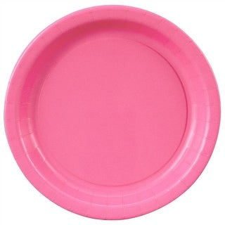 """Hot Pink Paper Plates - 7"""""""