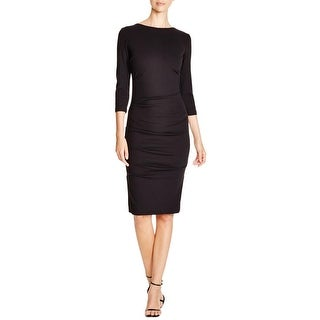 Nicole Miller Womens Party Dress Ruched Knee-Length