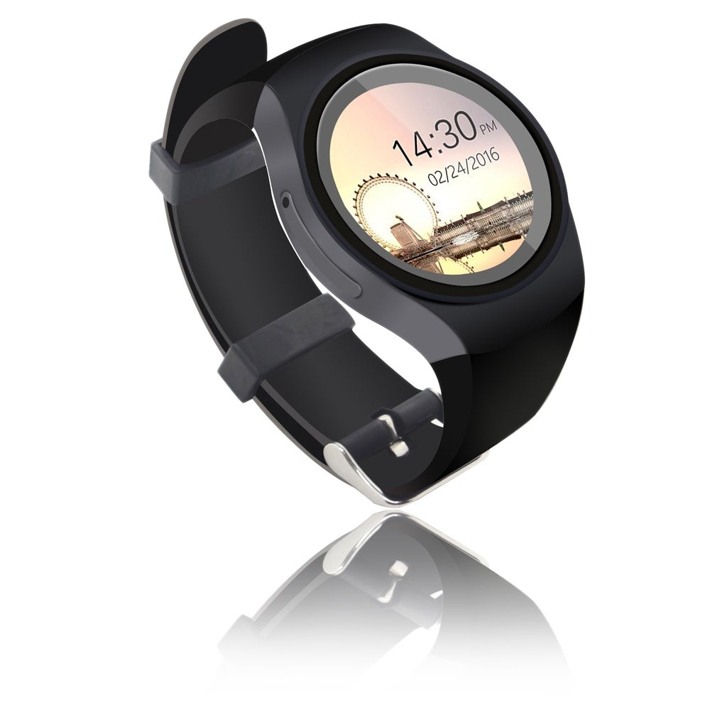 Indigi® Deluxe A6 (Unlocked) SmartWatch & Phone - Bluetooth 4.0 Sync + Android 4.4 + Pedometer + Heart Monitor + WiFi - Thumbnail 0