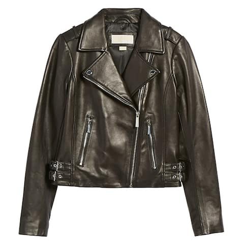 Michael Kors Black Moto Jacket