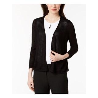 ALFANI Womens Black Open Cardigan Wear To Work Top  Size S