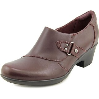 Clarks Genette Harper Round Toe Leather Clogs