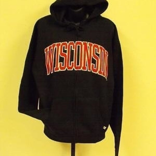 0f5a0287c0a Shop Wisconsin Badgers Womens Size L Large Hoodie Jacket 76Br - Free ...