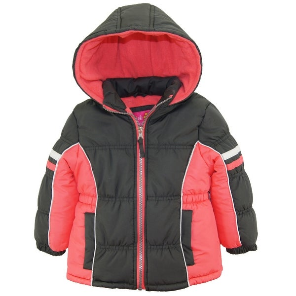 1314a7ee3 Pink Platinum Toddler Girl Colorblock Active Winter Coat Puffer Jacket