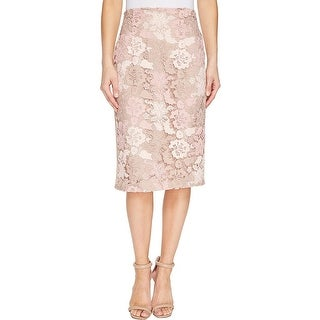Calvin Klein Floral Lace Pencil Skirt - 12