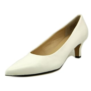 Ros Hommerson Kendra Women N/S Pointed Toe Leather White Heels
