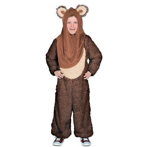 Star Wars Premium Wicket Jumpsuit Child Costume Large - Brown