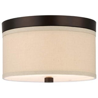 "Forecast Lighting F131720 2 Light 10.25"" Wide Flush Mount Ceiling Fixture from the Embarcadero Collection - sorrel bronze"