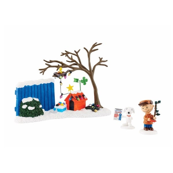 "Department 56 Peanuts ""True Meaning of Christmas"" 3-Piece Figurine Set #4043272"