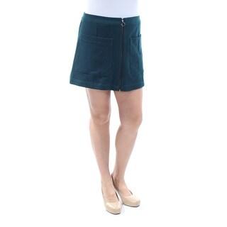 RACHEL ROY $89 Womens New 8890 Teal Zippered Pocketed Mini A-Line Skirt 10 B+B