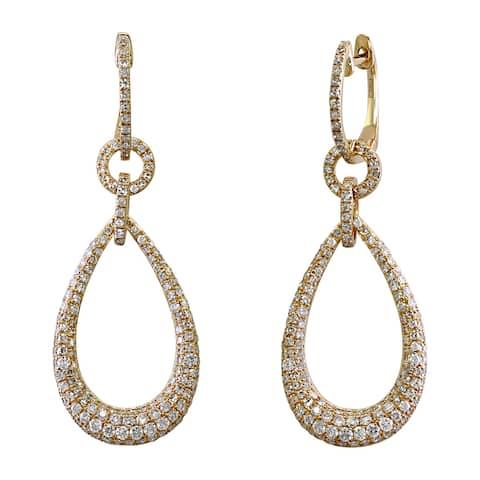 Effy Jewelry Diamond Drop Earrings in 14K Yellow Gold, 1.5 TWC - White