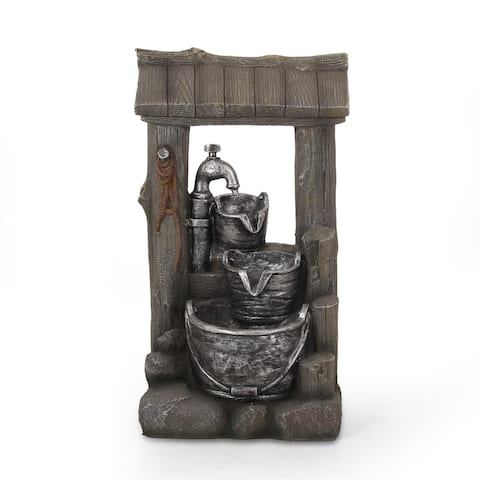 Annecy Outdoor Tier Bucket Fountain Outdoor 3 by Christopher Knight Home