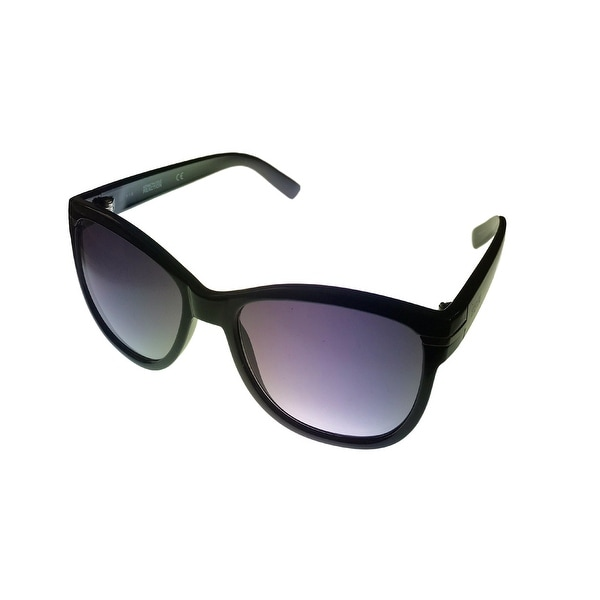 Kenneth Cole Reaction Womens Sunglass Black Square, Gradient Lens KC1254 1B - Medium
