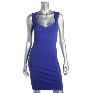 French Connection Womens Sleeveless V-Neck Cocktail Dress