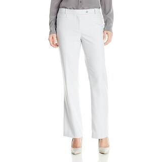 Calvin Klein Petite Birdseye Print Straight Leg Modern Fit Trouser Pants Serene/Multi