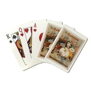 Sandow Trocadero Vaudevilles Carnival Theme - Vintage Advertisement (Playing Card Deck - 52 Card Poker Size with Jokers)