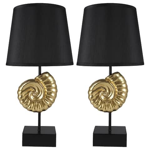 "Set of 2 Nautilus Table Lamps, 22"" Tall"