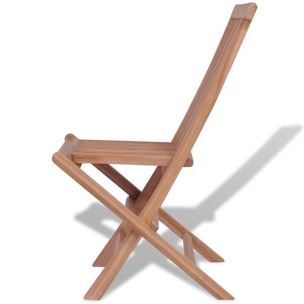 Wondrous Shop Vidaxl Folding Garden Chairs 4 Pcs Solid Teak Wood Cjindustries Chair Design For Home Cjindustriesco