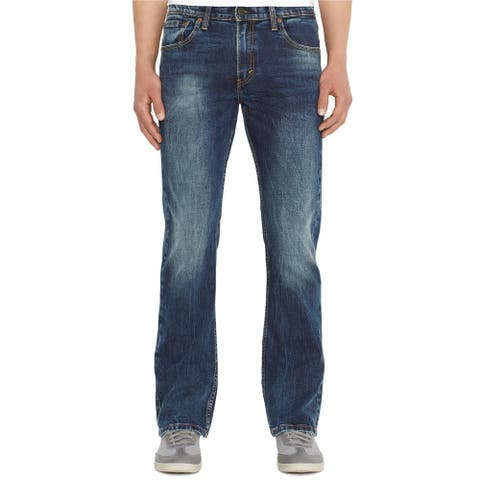 Levis Mens 527 Boot Cut Jeans, blue, 38W x 34L