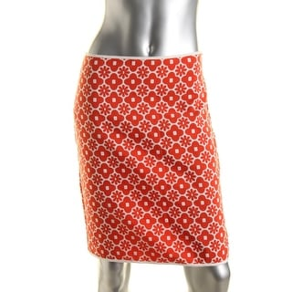 Studio M Womens Lightweight Floral Print Pencil Skirt - 4