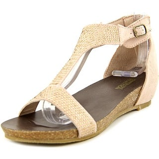 Kenneth Cole Reaction Lexi Wedge Youth Open-Toe Synthetic Pink Flats