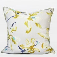 "G Home Collection Luxury Yellow Flower Printing Pillow 20""X20"""