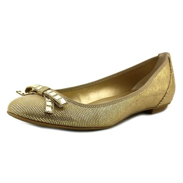 Alfani Juxton Women Round Toe Synthetic Gold Flats