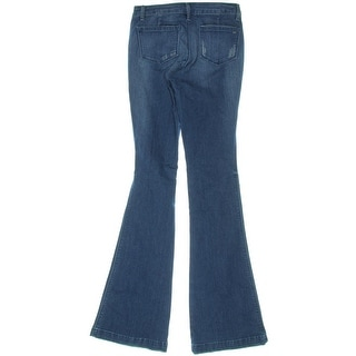 Suede Womens Juniors Farrah Destroyed High Rise Jeans