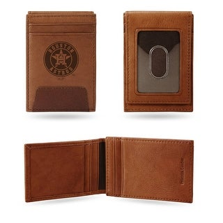 4 Brown MLB Houston Astros Front Pocket Wallet N A