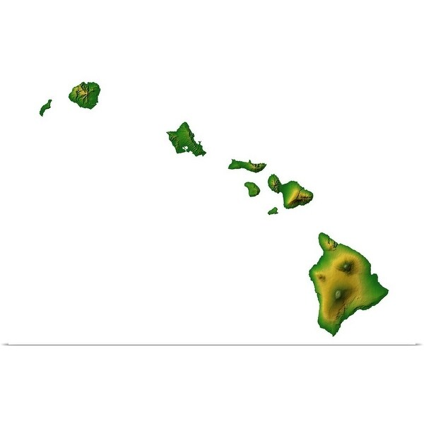 Shop Hawaii topographic map - Multi-color - Free Shipping On ...