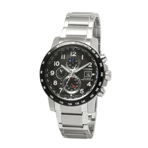 Citizen Men's AT8124-83E 'Eco-Drive' Chronograph Stainless Steel Watch - Black