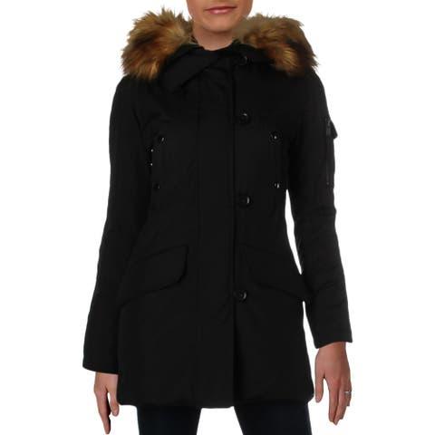 Aqua Womens Eskimo Parka Coat Winter Down