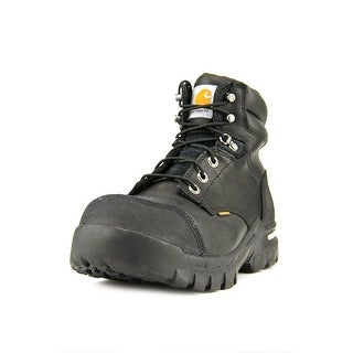 "Carhartt 6"" Rugged Flex Men W Round Toe Leather Black Work Boot"
