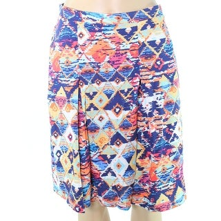 Nomadic Traders NEW Blue Women's Large PL Petite Printed A-Line Skirt