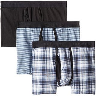 Dockers Mens 3PK Plaid Boxer Briefs - M
